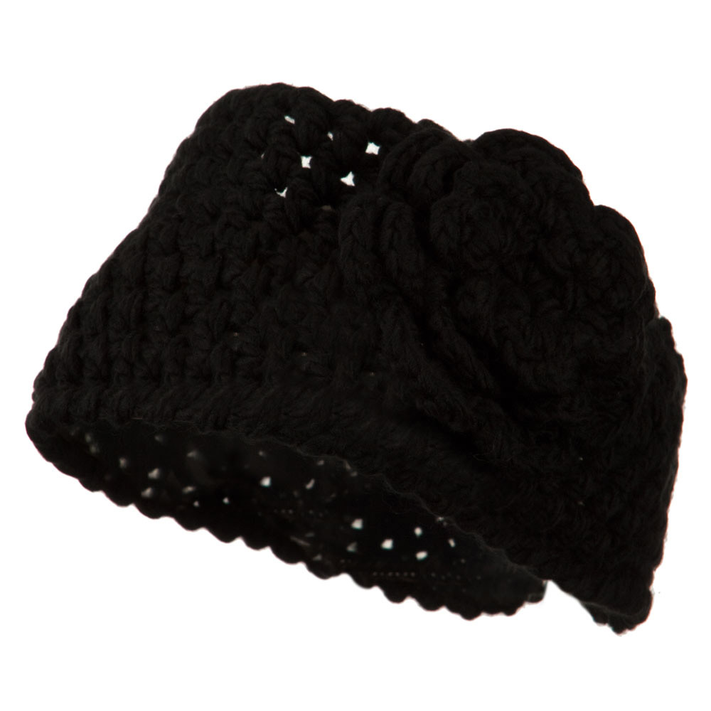Ladies Acrylic Flower Accent Head Band - Black - Hats and Caps Online Shop - Hip Head Gear