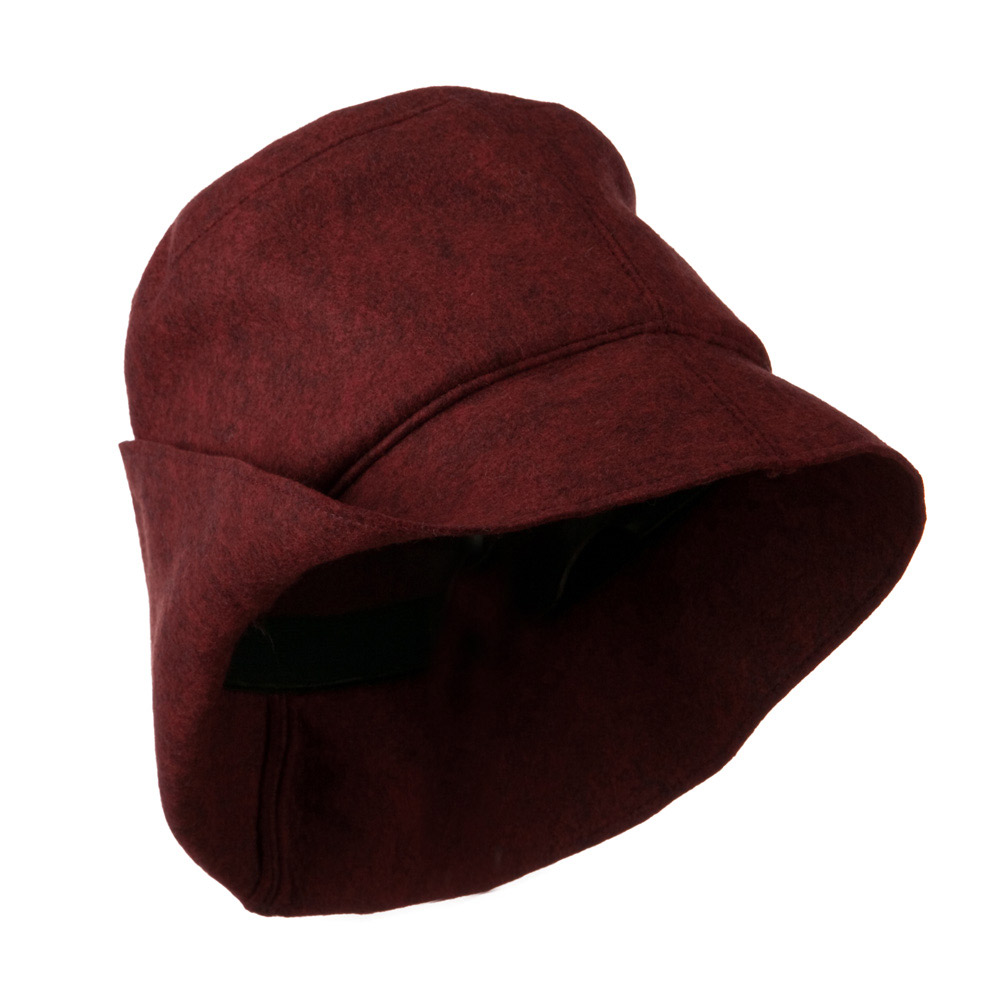 Asymmetrical Felt Hat - Wine - Hats and Caps Online Shop - Hip Head Gear