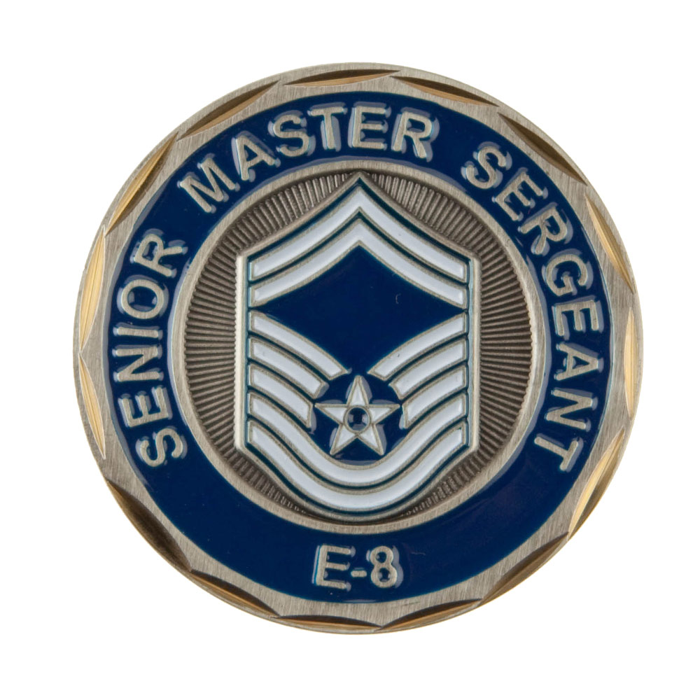 U.S. Air Force Rank Coin (2) - E8