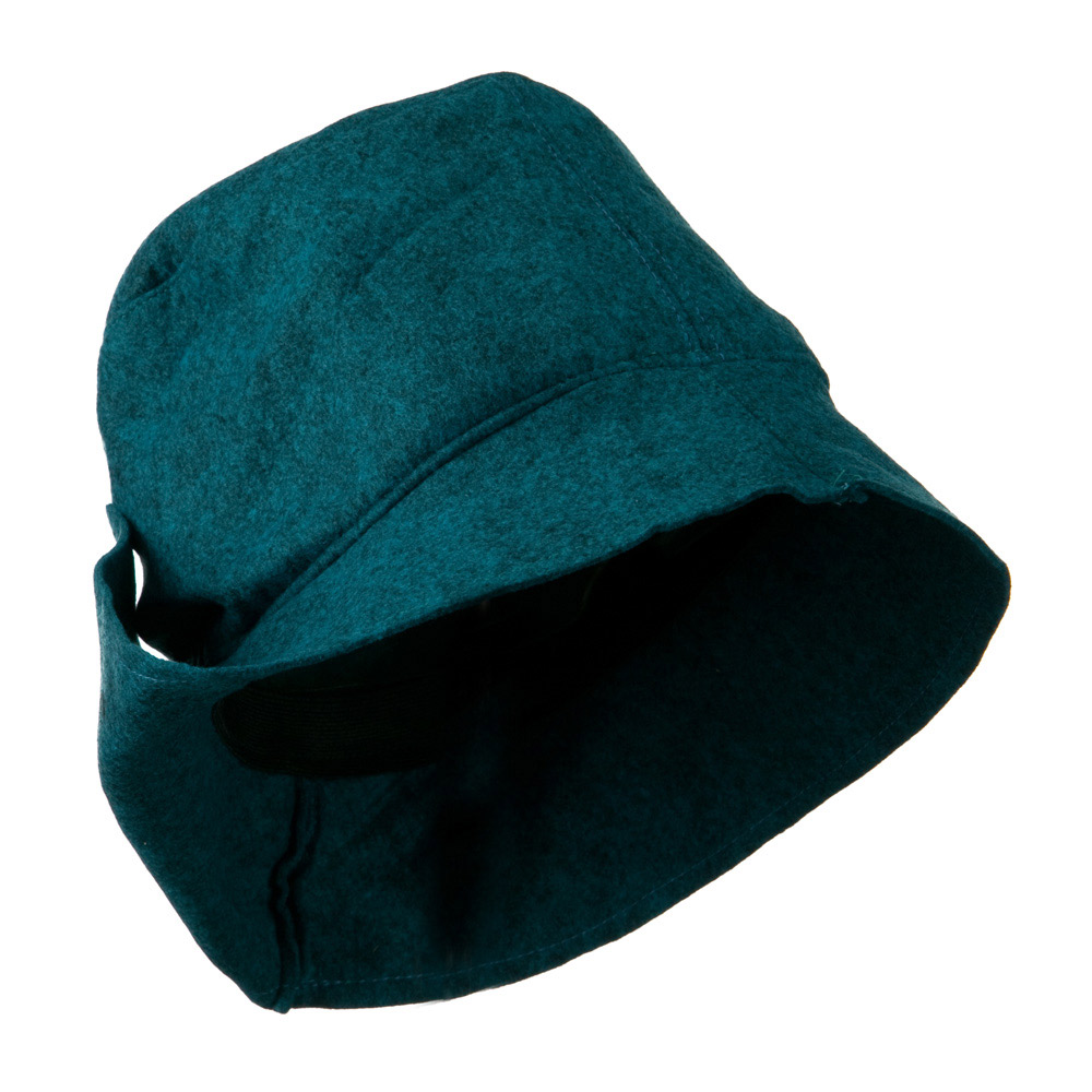 Asymmetrical Felt Hat - Turquoise - Hats and Caps Online Shop - Hip Head Gear