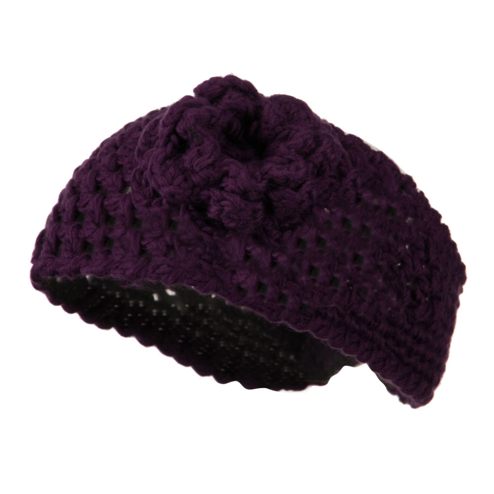 Ladies Acrylic Flower Accent Head Band - Purple - Hats and Caps Online Shop - Hip Head Gear