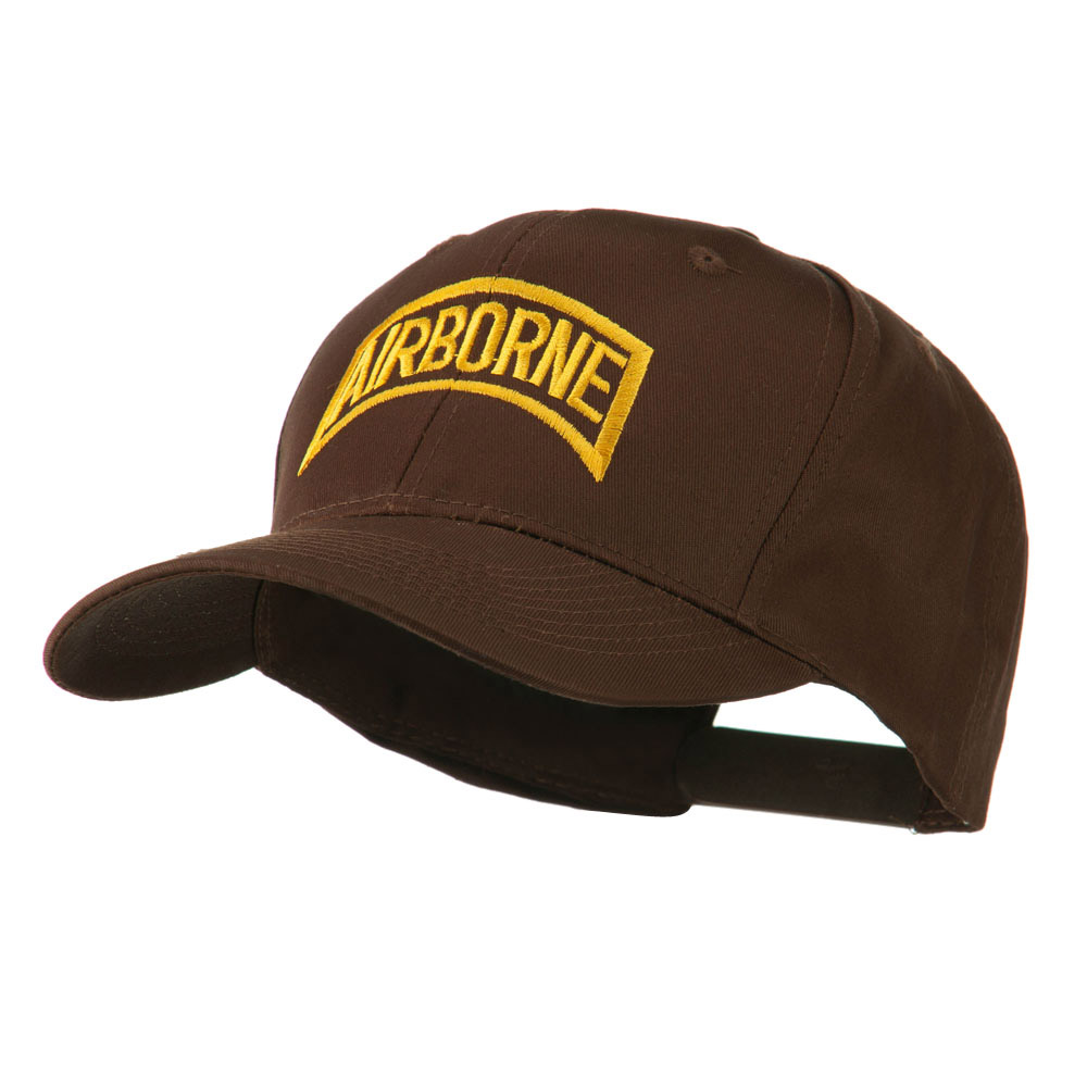 Air Force Unit of Airborne Embroidered Cap - Brown - Hats and Caps Online Shop - Hip Head Gear