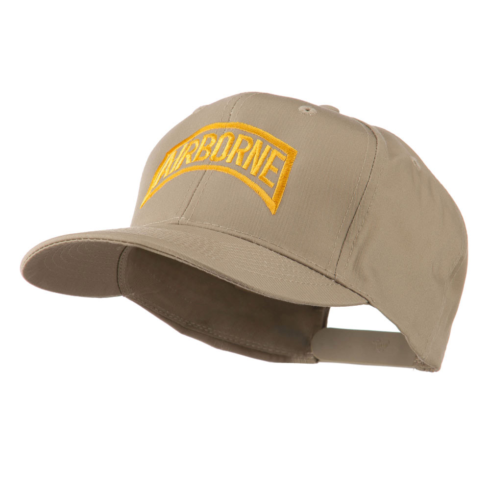 Air Force Unit of Airborne Embroidered Cap - Khaki - Hats and Caps Online Shop - Hip Head Gear