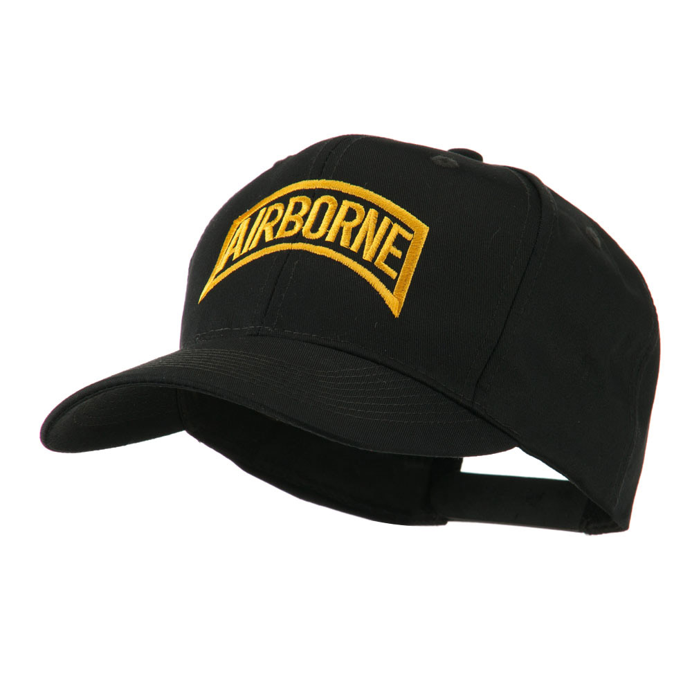 Air Force Unit of Airborne Embroidered Cap - Black - Hats and Caps Online Shop - Hip Head Gear