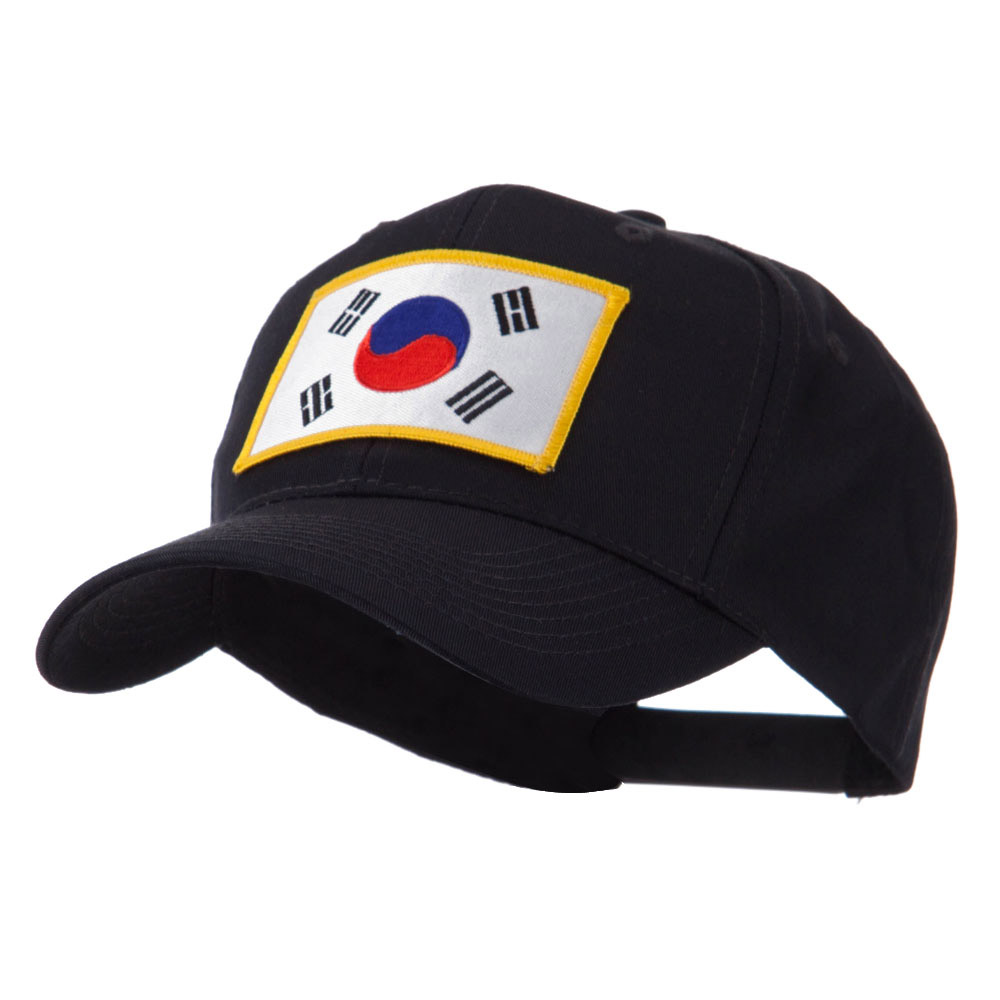 Asia Flag Embroidered Patch Cap - Korea - Hats and Caps Online Shop - Hip Head Gear