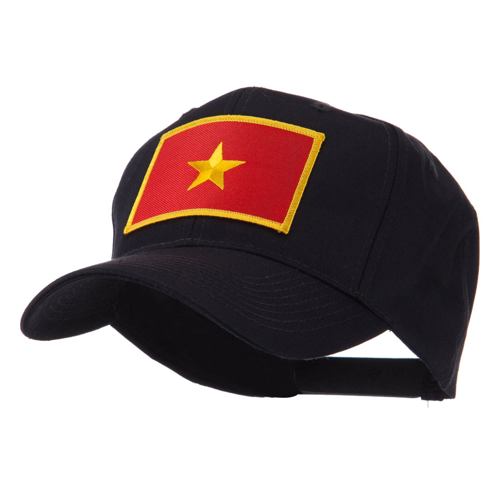 Asia Flag Embroidered Patch Cap - Vietnam - Hats and Caps Online Shop - Hip Head Gear
