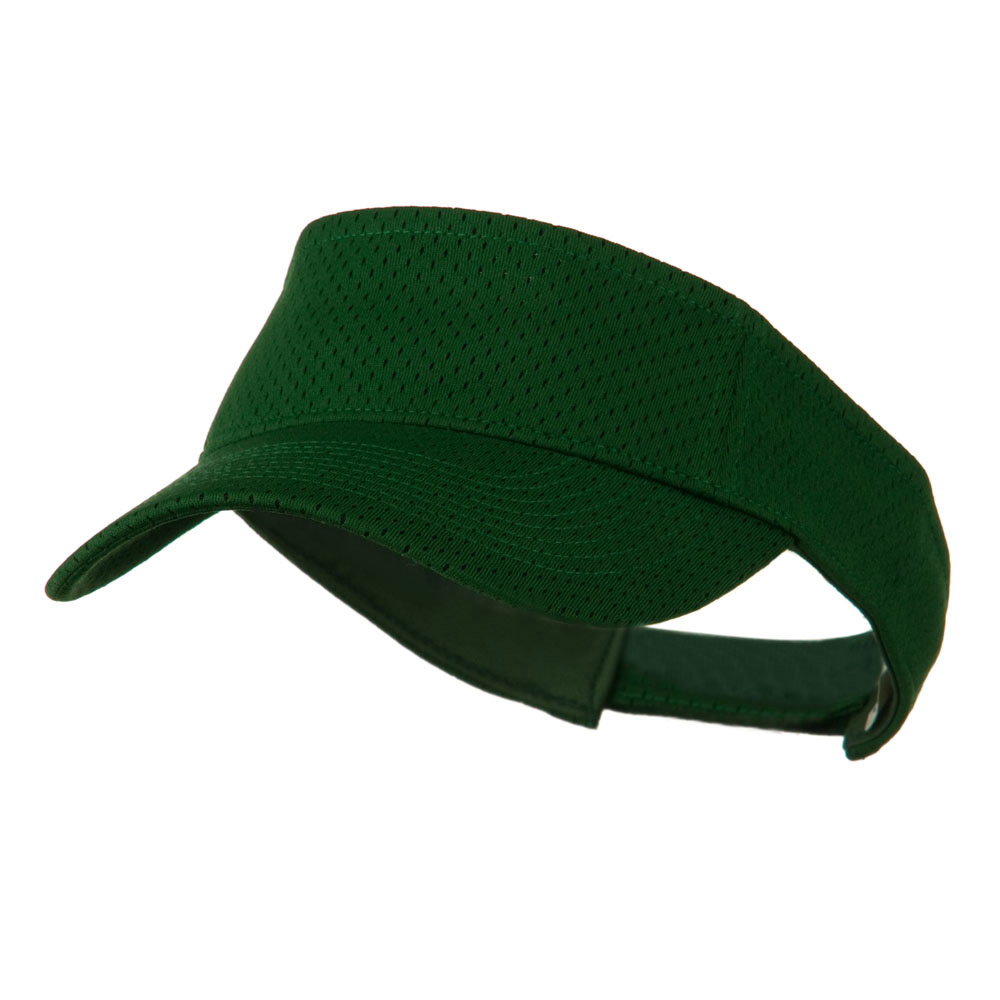 Athletic Jersey Mesh Sports Visor - Dark Green - Hats and Caps Online Shop - Hip Head Gear