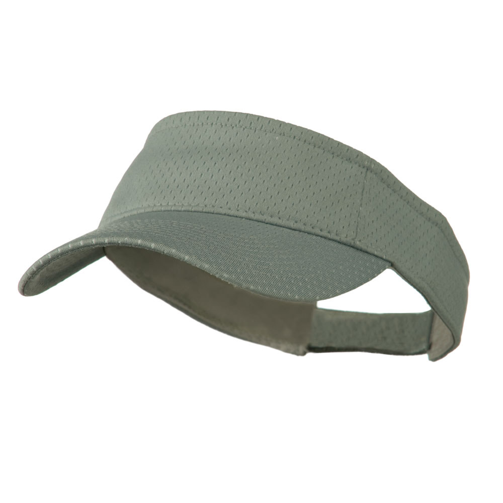 Athletic Jersey Mesh Sports Visor - Grey - Hats and Caps Online Shop - Hip Head Gear