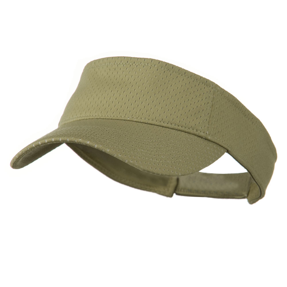 Athletic Jersey Mesh Sports Visor - Khaki - Hats and Caps Online Shop - Hip Head Gear