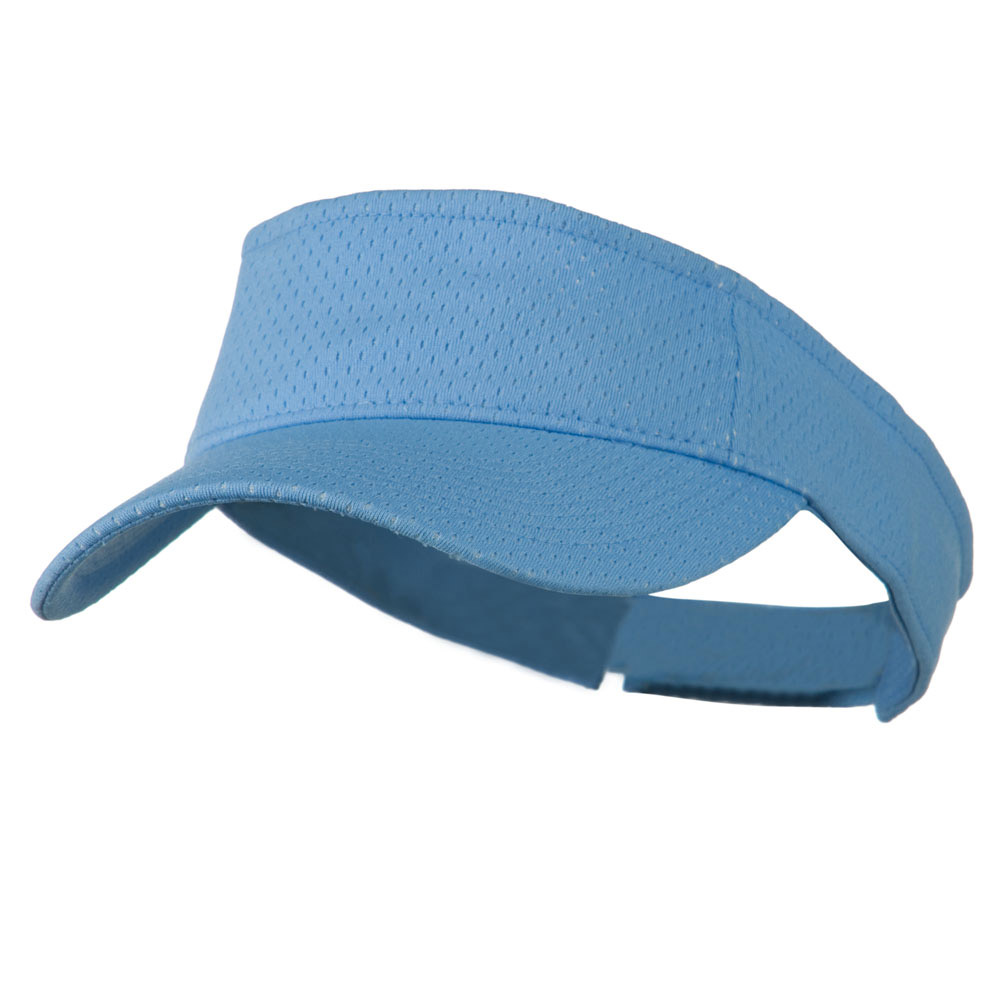 Athletic Jersey Mesh Sports Visor - Light Blue - Hats and Caps Online Shop - Hip Head Gear