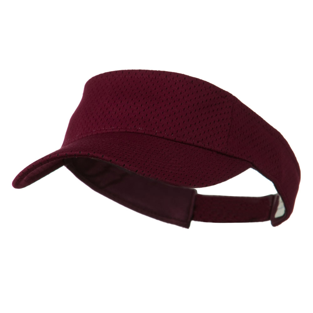 Athletic Jersey Mesh Sports Visor - Maroon - Hats and Caps Online Shop - Hip Head Gear
