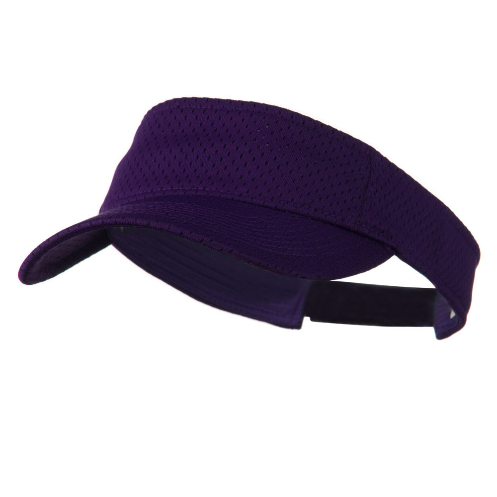Athletic Jersey Mesh Sports Visor - Purple - Hats and Caps Online Shop - Hip Head Gear
