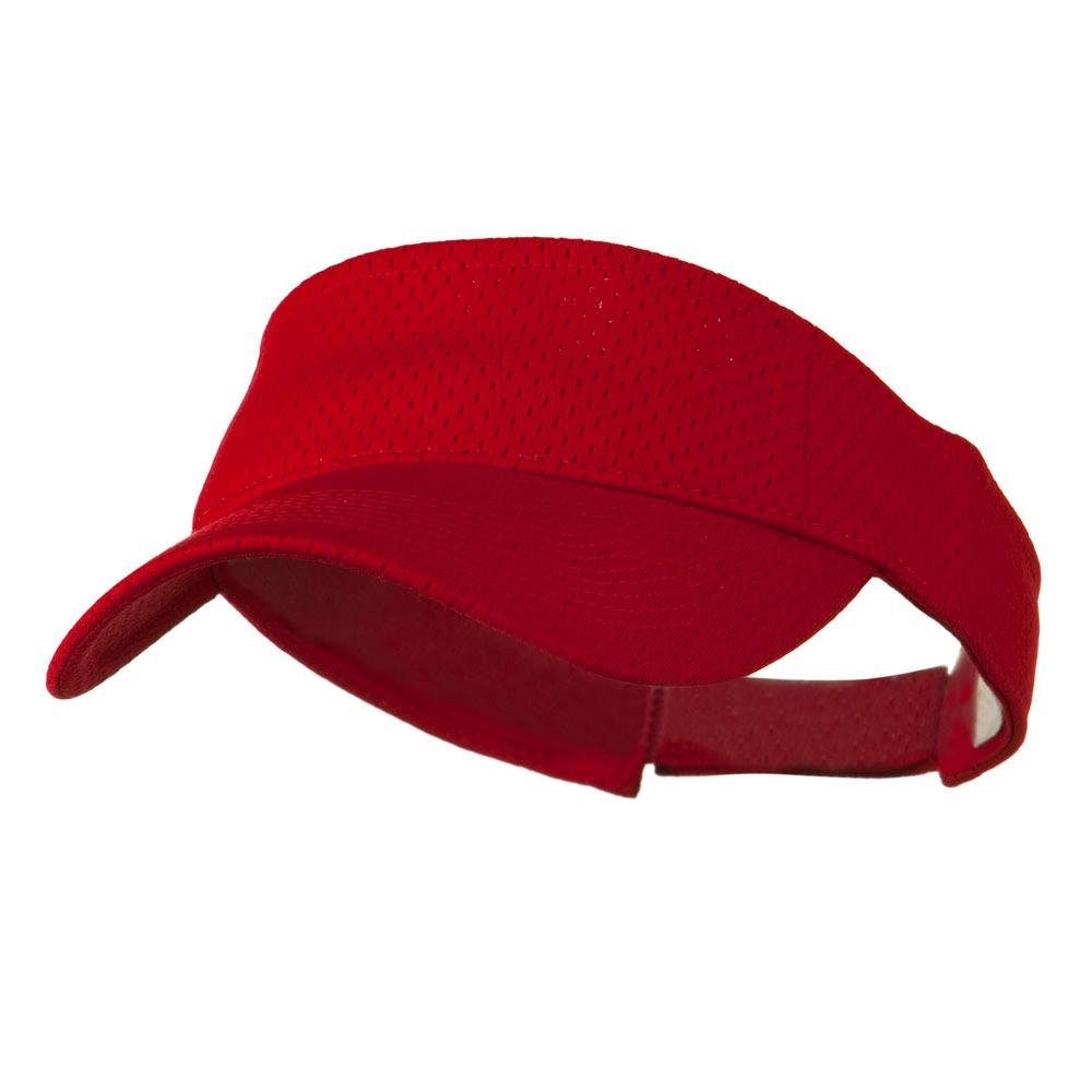 Athletic Jersey Mesh Sports Visor - Red - Hats and Caps Online Shop - Hip Head Gear
