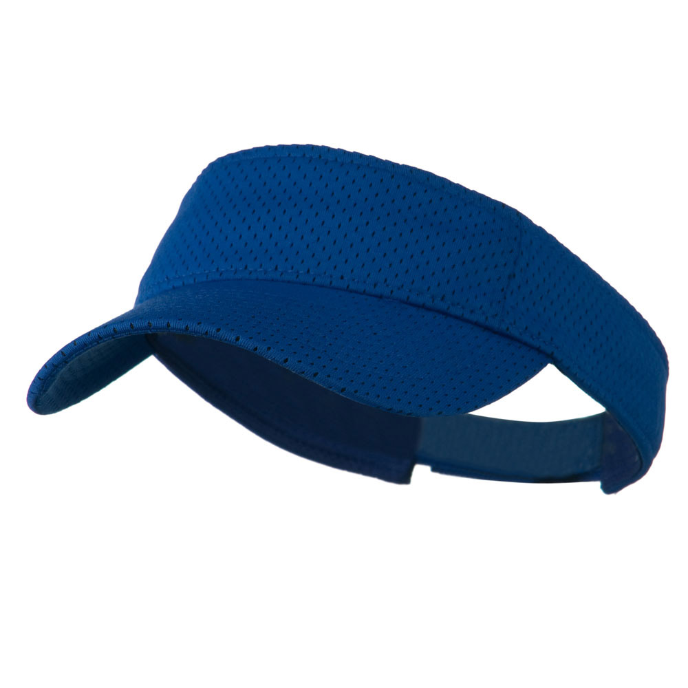 Athletic Jersey Mesh Sports Visor - Royal - Hats and Caps Online Shop - Hip Head Gear