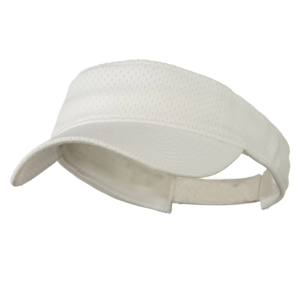 Athletic Jersey Mesh Sports Visor - White - Hats and Caps Online Shop - Hip Head Gear
