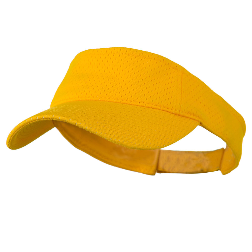 Athletic Jersey Mesh Sports Visor - Gold - Hats and Caps Online Shop - Hip Head Gear