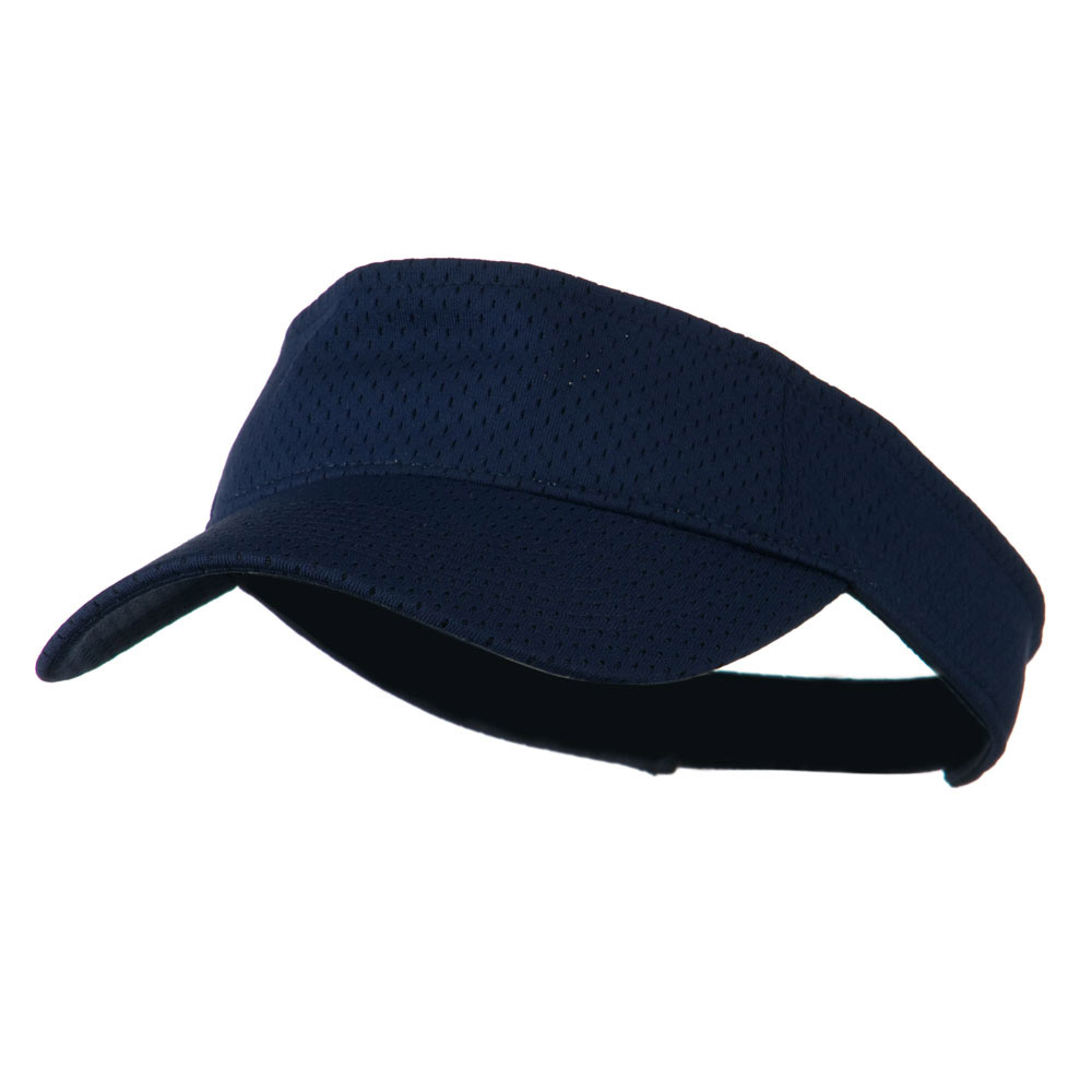 Athletic Jersey Mesh Sports Visor - Navy - Hats and Caps Online Shop - Hip Head Gear