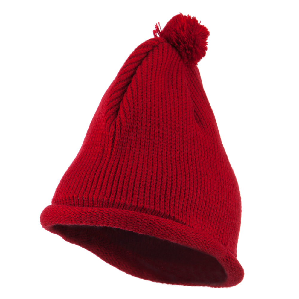 Fine Guage Acrylic Knitting Hat-Red - Hats and Caps Online Shop - Hip Head Gear