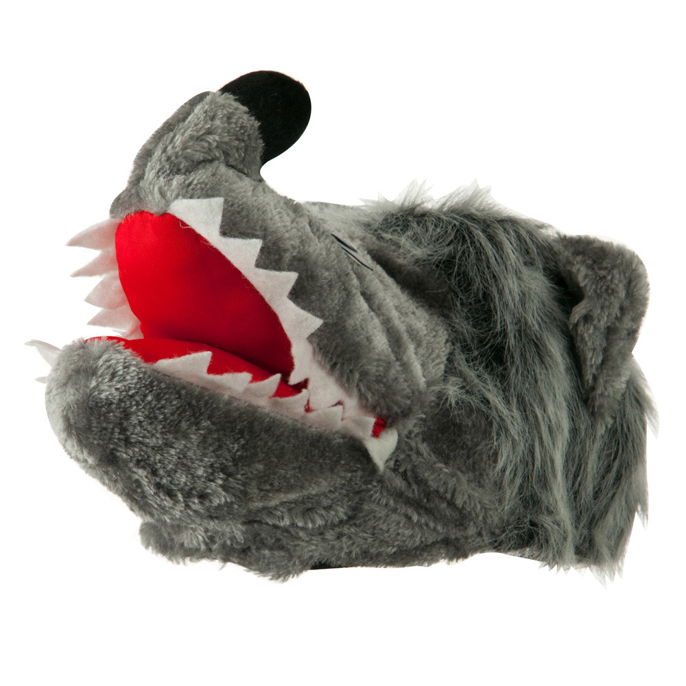 Plush Wolf  Hat - Grey - Hats and Caps Online Shop - Hip Head Gear