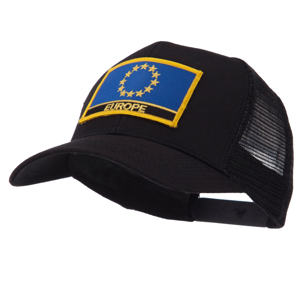 Asia, Australia and Other Flag Letter Patched Mesh Cap - Europe - Hats and Caps Online Shop - Hip Head Gear