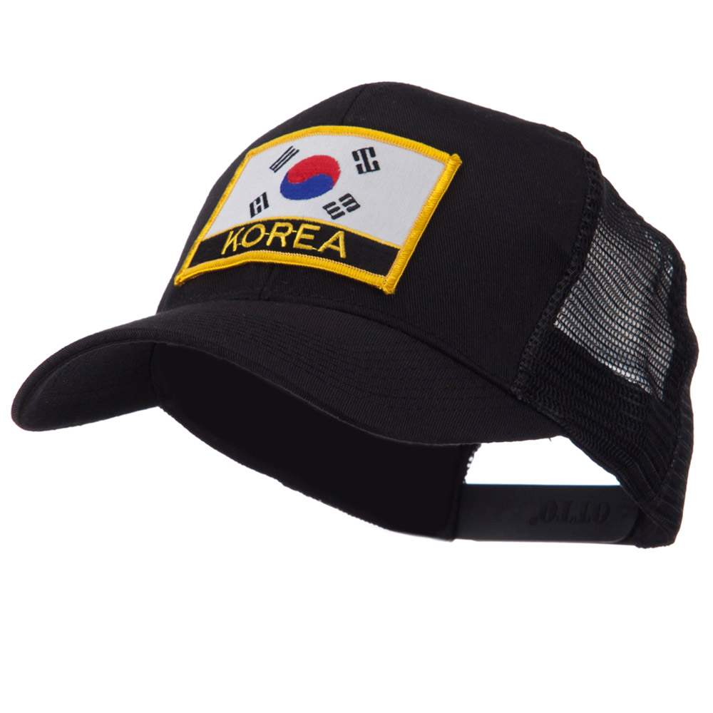 Asia, Australia and Other Flag Letter Patched Mesh Cap - Korea - Hats and Caps Online Shop - Hip Head Gear