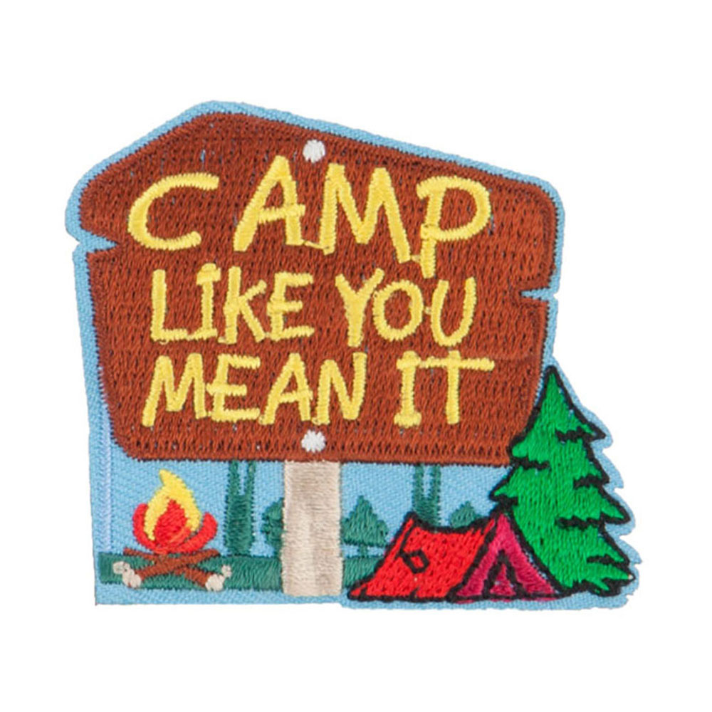 Camp Like You Mean It Patches - Blue