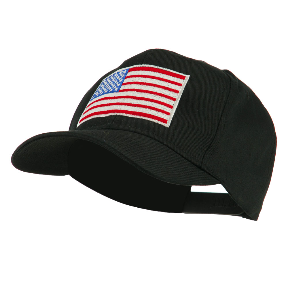 American Flag Embroidered Cap - Black - Hats and Caps Online Shop - Hip Head Gear