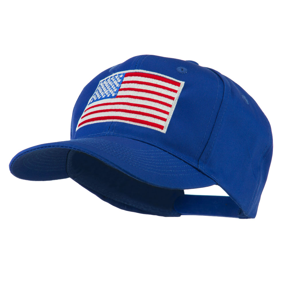 American Flag Embroidered Cap - Royal - Hats and Caps Online Shop - Hip Head Gear