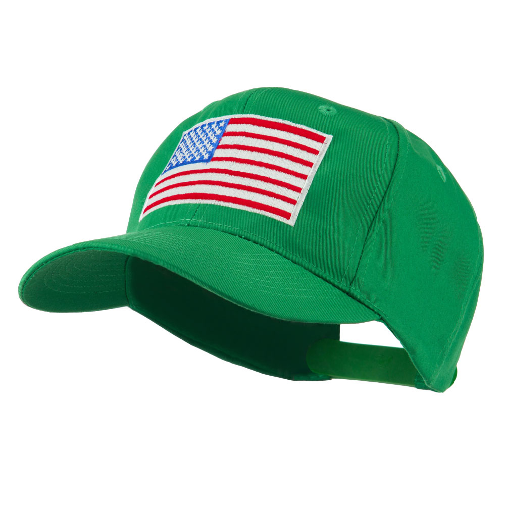 American Flag Embroidered Cap - Kelly - Hats and Caps Online Shop - Hip Head Gear