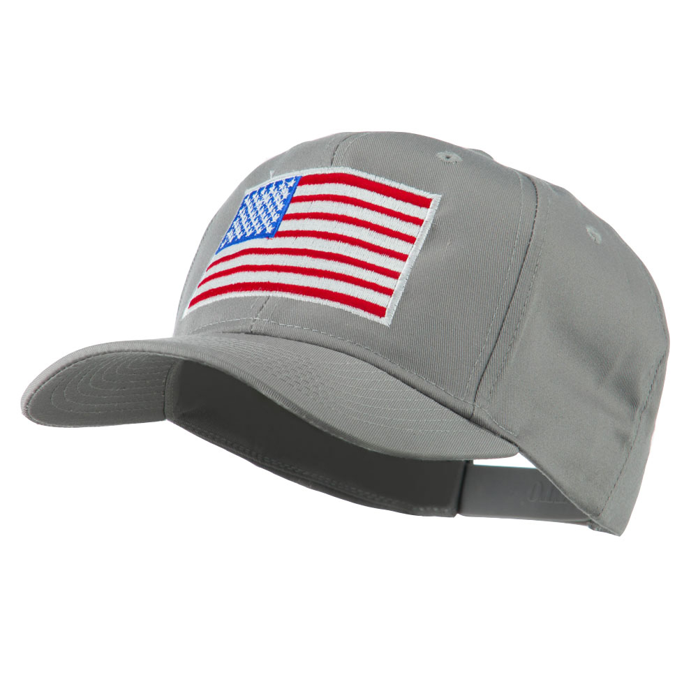 American Flag Embroidered Cap - Grey - Hats and Caps Online Shop - Hip Head Gear
