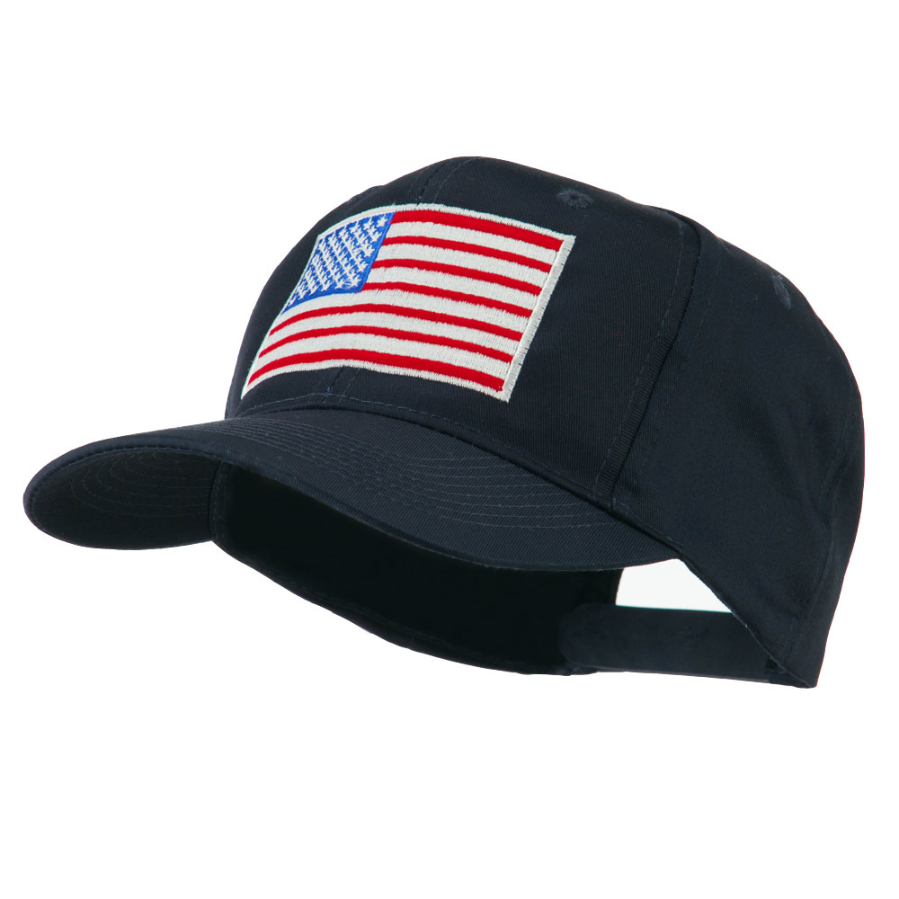 American Flag Embroidered Cap - Navy - Hats and Caps Online Shop - Hip Head Gear