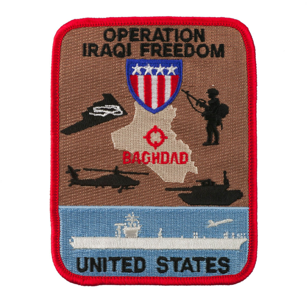 Assorted Operation Patches - Red Blue