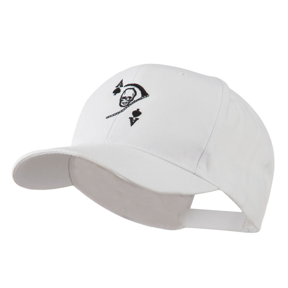 Ace of Death Vietnam War Emblem Embroidered Cap - White - Hats and Caps Online Shop - Hip Head Gear