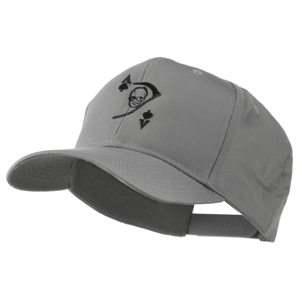 Ace of Death Vietnam War Emblem Embroidered Cap - Grey - Hats and Caps Online Shop - Hip Head Gear