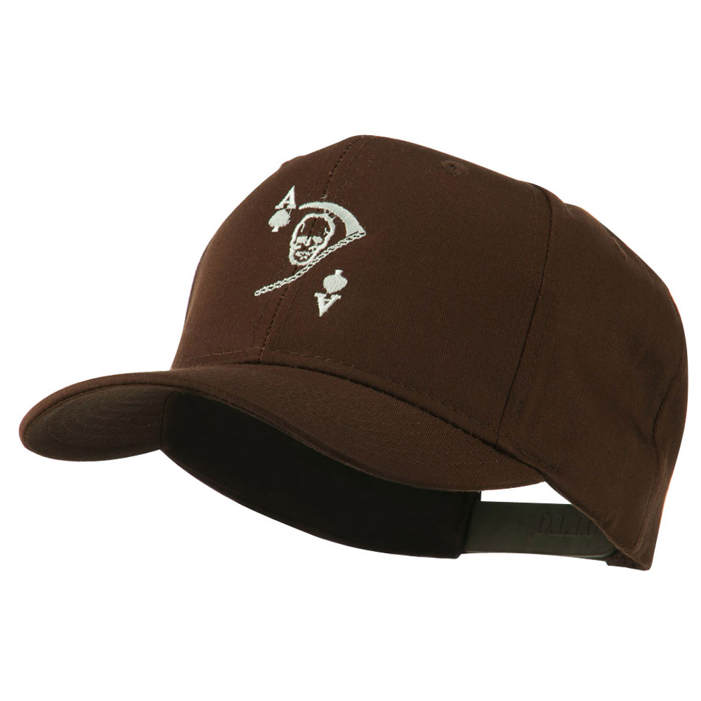 Ace of Death Vietnam War Emblem Embroidered Cap - Brown - Hats and Caps Online Shop - Hip Head Gear