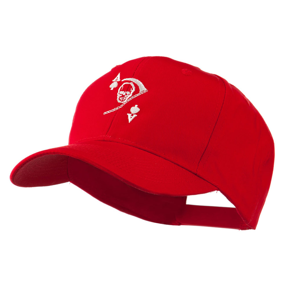 Ace of Death Vietnam War Emblem Embroidered Cap - Red - Hats and Caps Online Shop - Hip Head Gear
