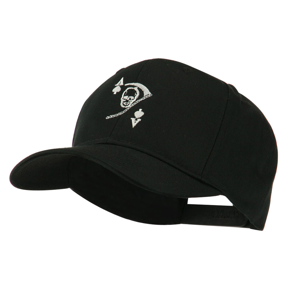 Ace of Death Vietnam War Emblem Embroidered Cap - Black - Hats and Caps Online Shop - Hip Head Gear
