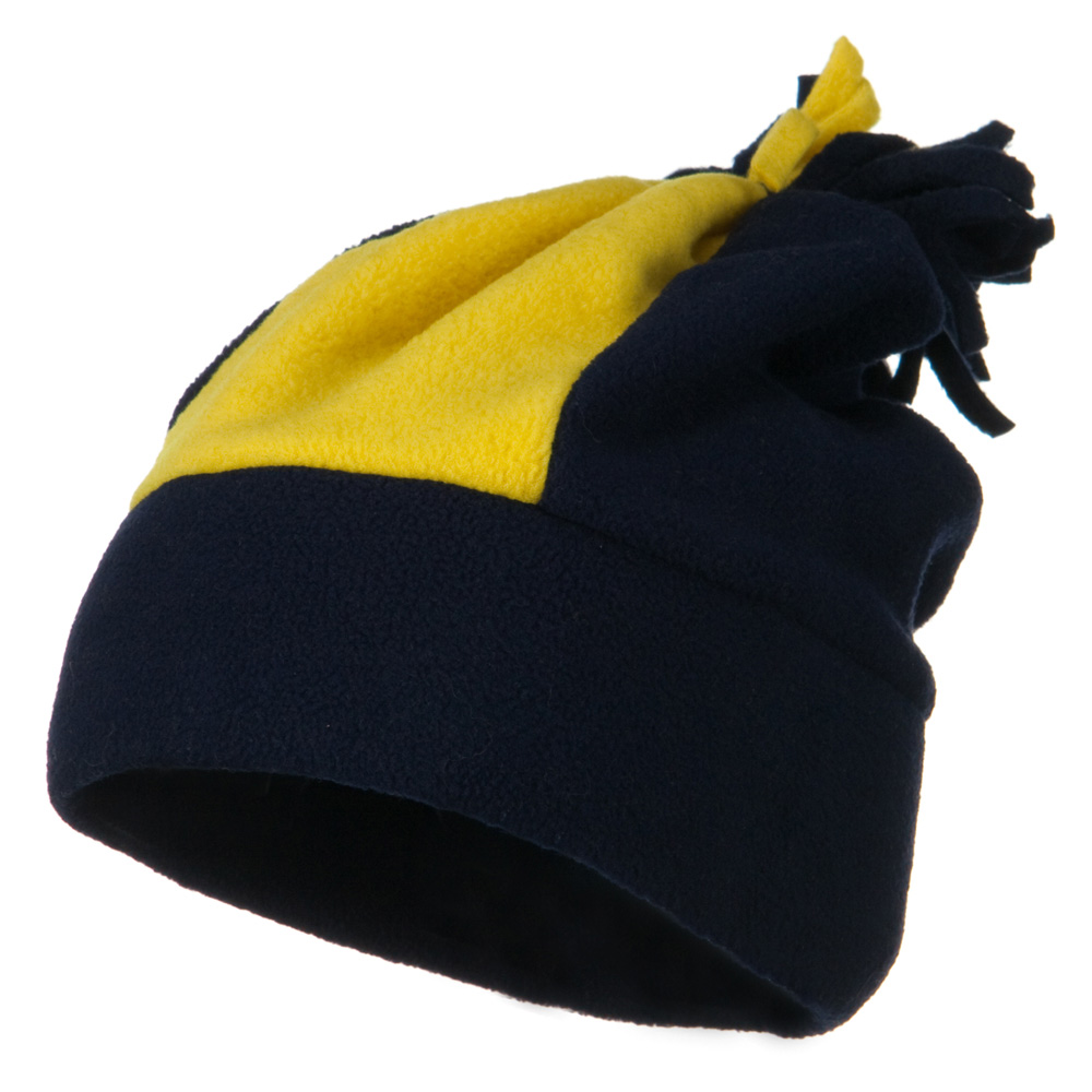 Anti Pilling Fleece Winter Beanie - Navy Gold - Hats and Caps Online Shop - Hip Head Gear