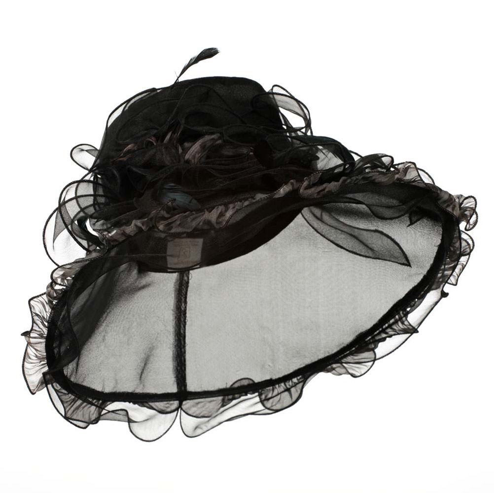 Animal Print Organza Hat - Black - Hats and Caps Online Shop - Hip Head Gear