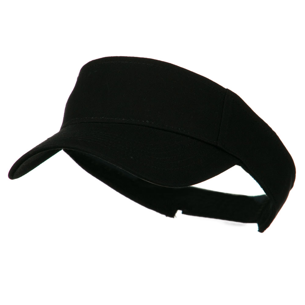 Ace Plain Strap Back Visor - Black - Hats and Caps Online Shop - Hip Head Gear