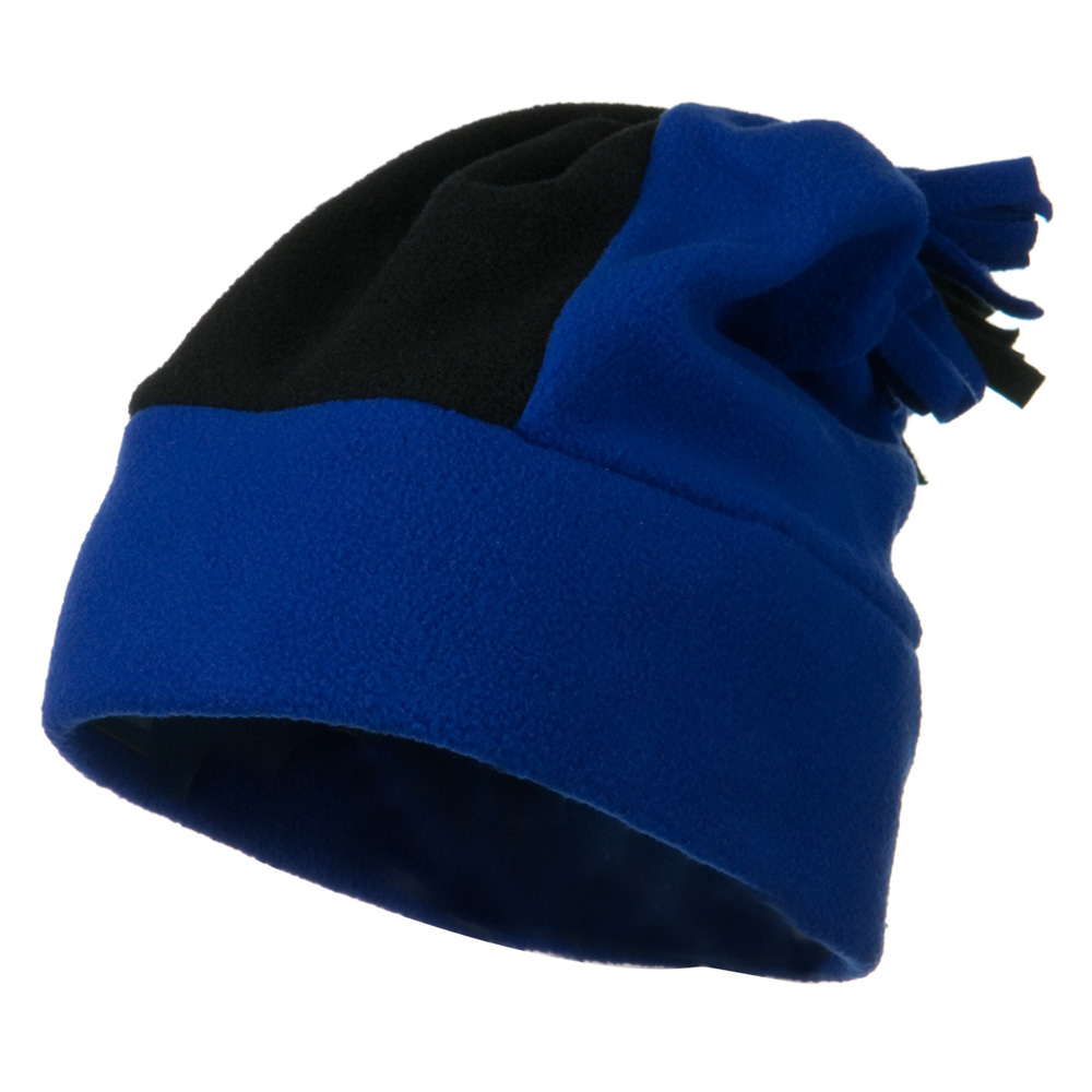 Anti Pilling Fleece Winter Beanie - Royal Black - Hats and Caps Online Shop - Hip Head Gear