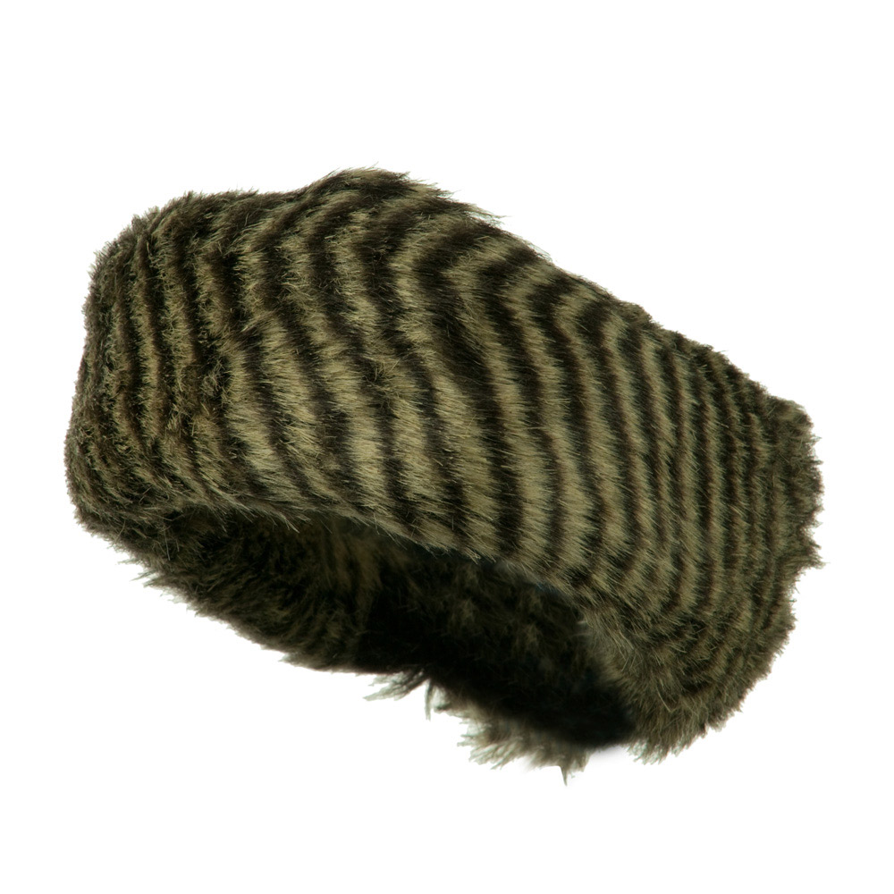 Assorted Patterns Fur Headband - Zebra - Hats and Caps Online Shop - Hip Head Gear