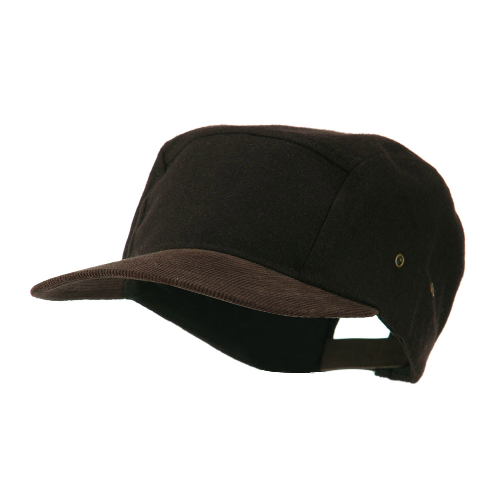 Adjustable 4 Panel Baseball Cap - Dark Brown - Hats and Caps Online Shop - Hip Head Gear