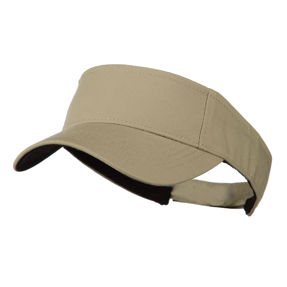 Ace Plain Strap Back Visor - Khaki - Hats and Caps Online Shop - Hip Head Gear