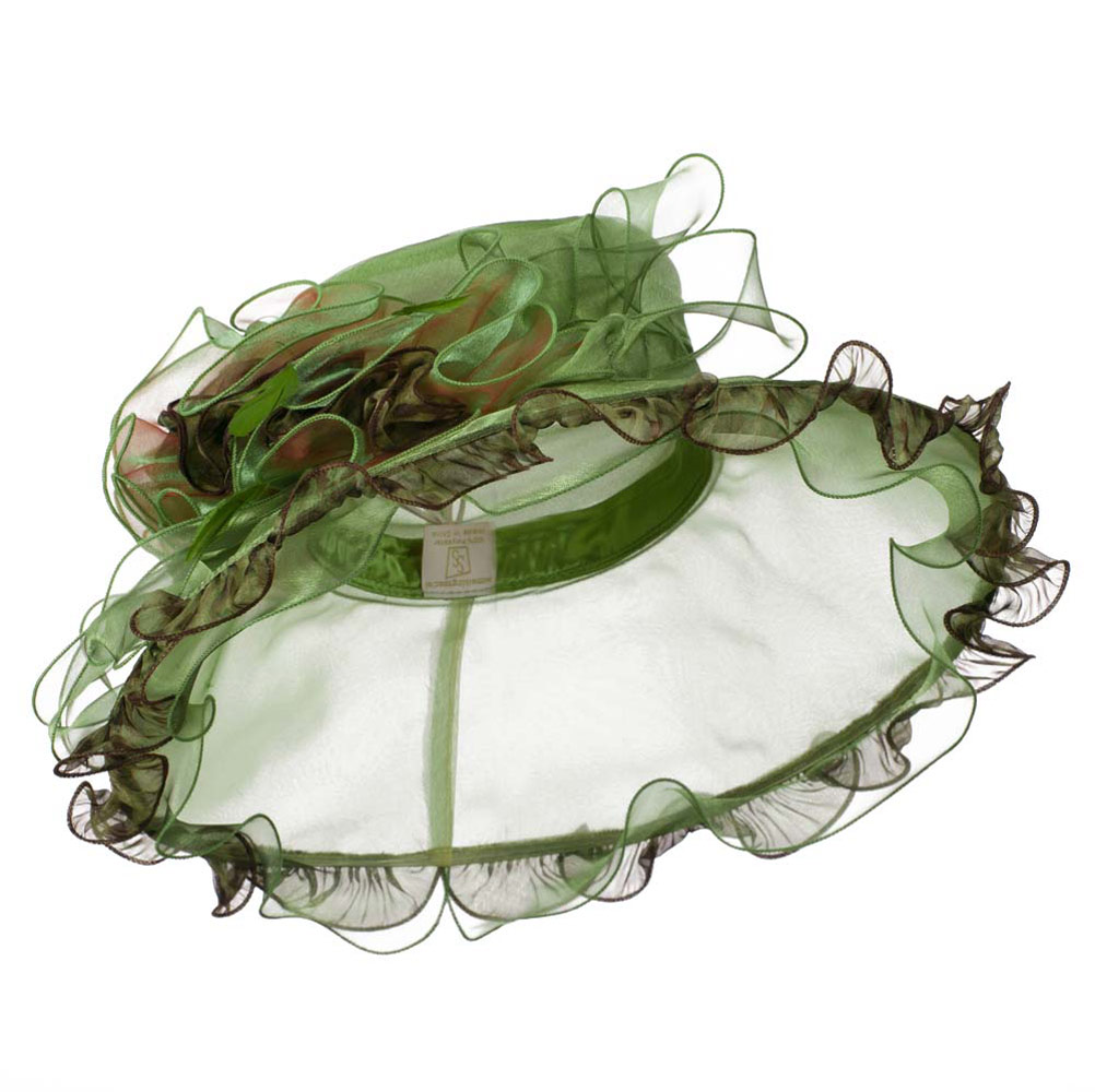 Animal Print Organza Hat - Green - Hats and Caps Online Shop - Hip Head Gear