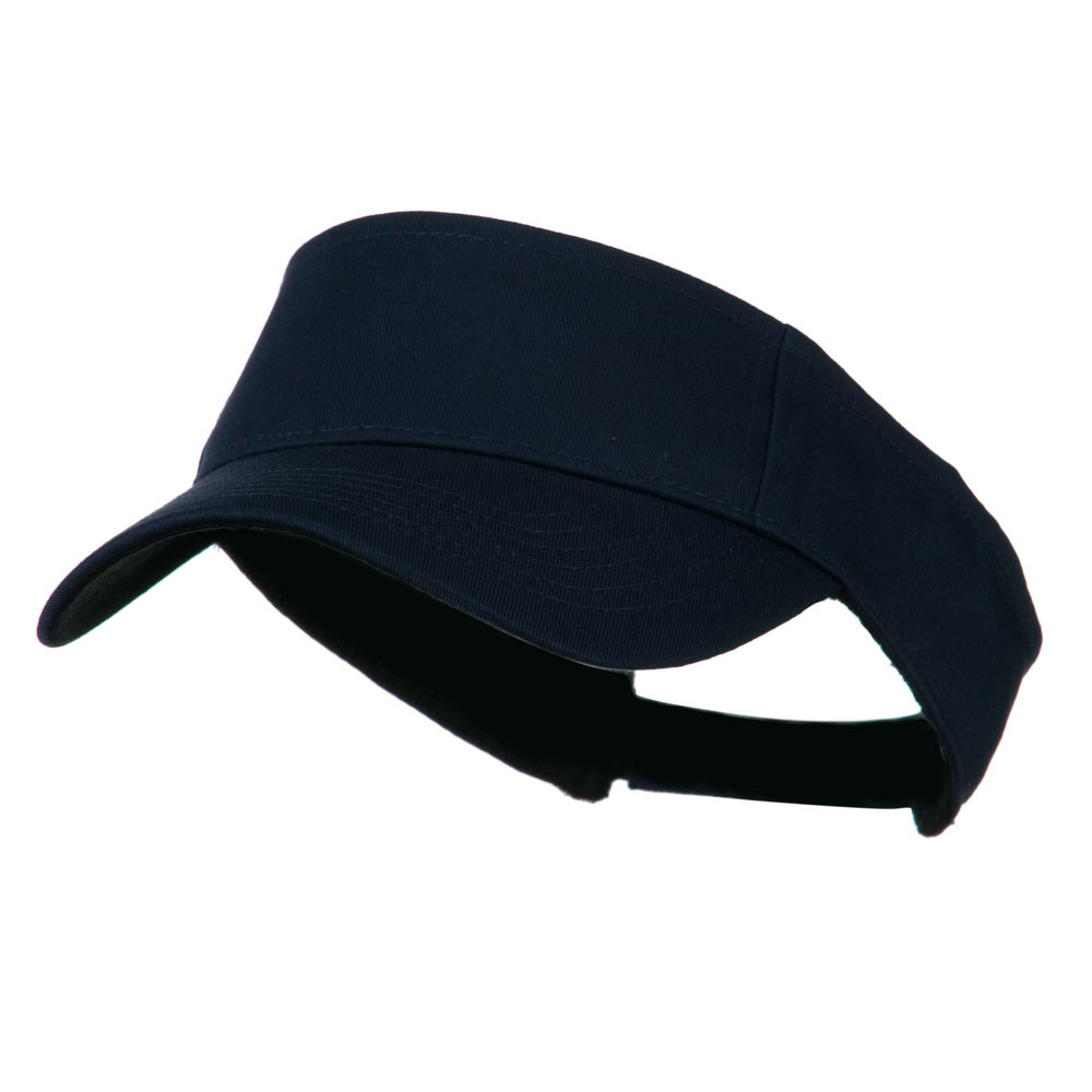 Ace Plain Strap Back Visor - Navy - Hats and Caps Online Shop - Hip Head Gear