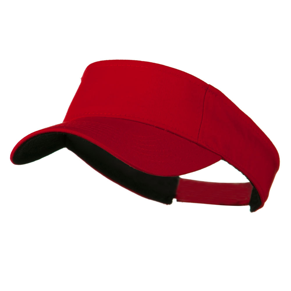 Ace Plain Strap Back Visor - Red - Hats and Caps Online Shop - Hip Head Gear