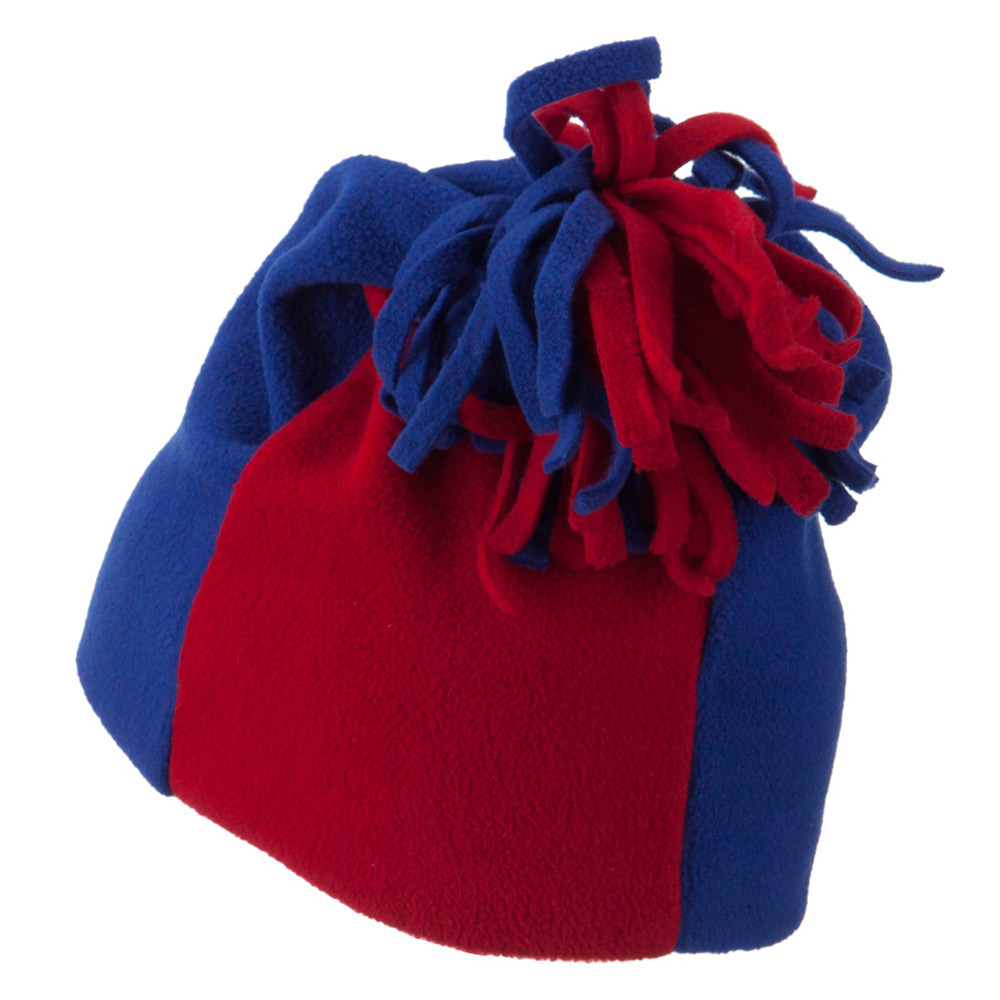 Anti Pilling Fleece Winter Beanie - Blue Red - Hats and Caps Online Shop - Hip Head Gear