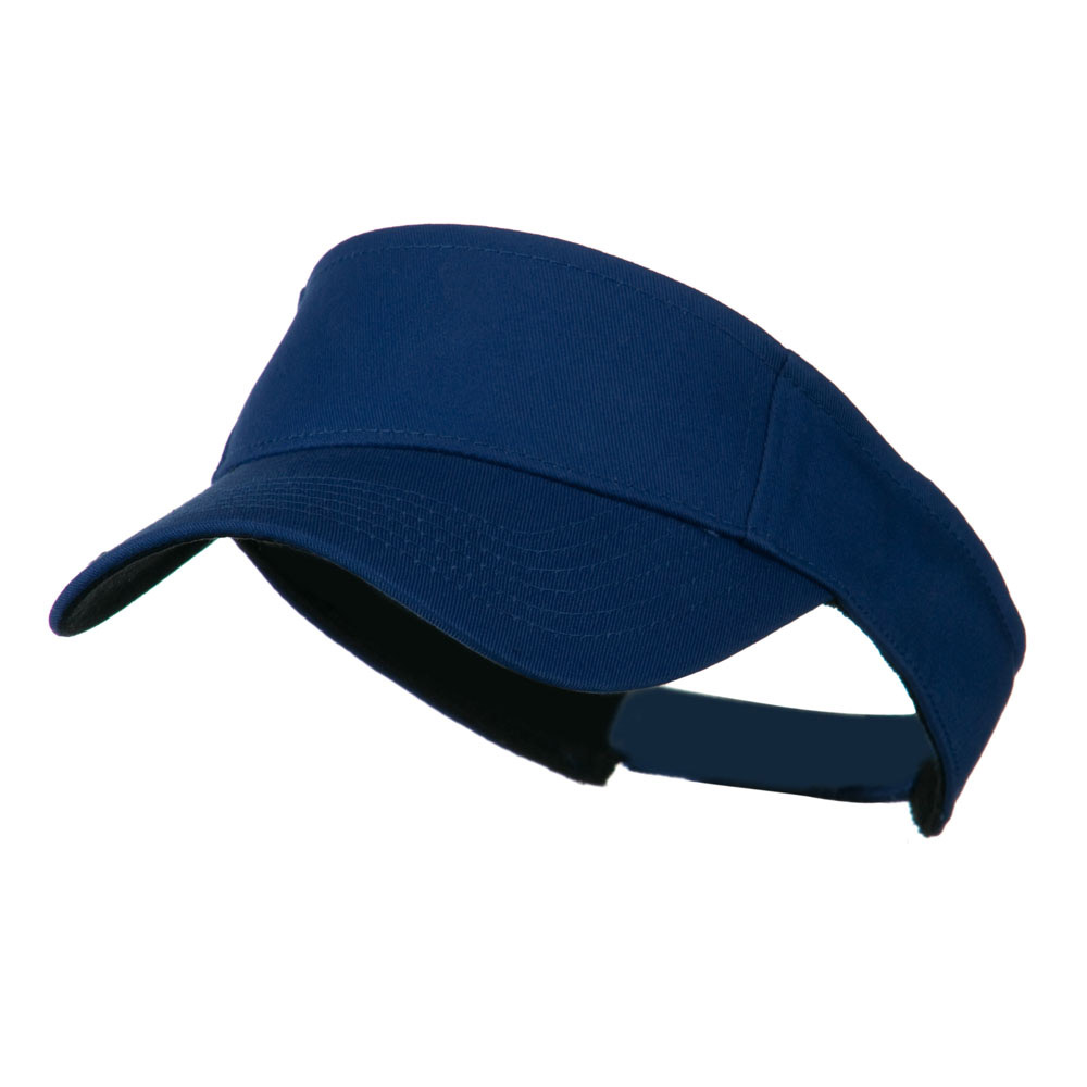 Ace Plain Strap Back Visor - Royal - Hats and Caps Online Shop - Hip Head Gear