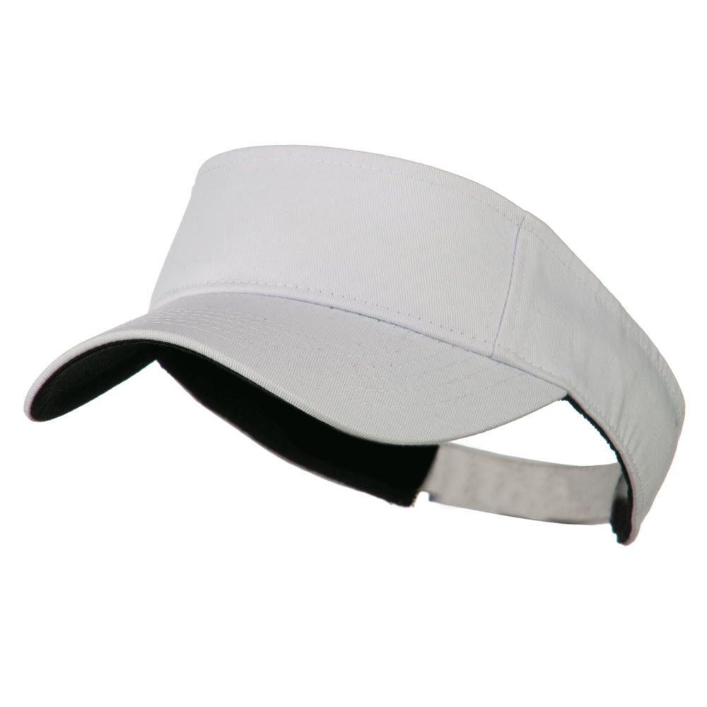 Ace Plain Strap Back Visor - White - Hats and Caps Online Shop - Hip Head Gear